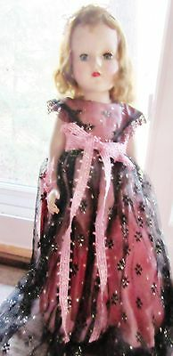 """American Character Sweet Sue Girl doll 18"""" Pink gown dress walker 1950's"""