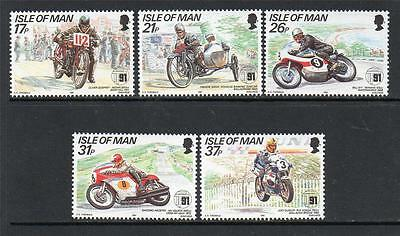 Isle Of Man Mnh 1991 Sg478-482 80Th Anv Of Tourist Trophy Mountain Course
