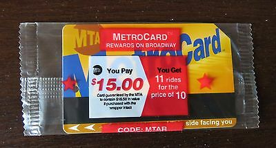 Nyc Metrocard 2000 Rewards On Broadway Double Stars Unopened  Super Rare