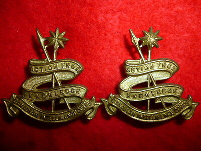 S27 - Canadian Intelligence Corps Collar Badge Pair - Canada WW2