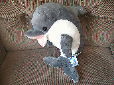 Melissa & Doug Princess Soft Toys Skimmer Dolphin 12in Grey White Soft Plush