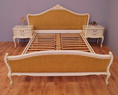 1941 !! Impressive Double Bed With Bedside Tables In Louis Xv Style !!