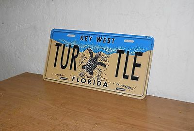 "License Plate Plastic Key West, FL  New  "" Turtle """