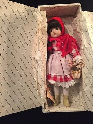 """Duck House Heirloom Little Red Riding hood 15"""" Doll Porcelain Very Cute"""