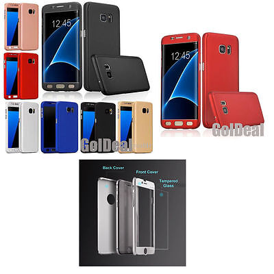 360° Full Hybrid Tempered Glass + Acrylic Case Cover For Samsung Galaxy Phones*