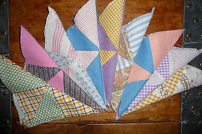 Antique Vintage Lot of 9 PINWHEEL Quilt Blocks  c. early 1900's