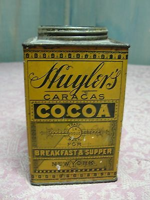 Antique Huyler's Caracas Breakfast & Supper Cocoa Tin New York