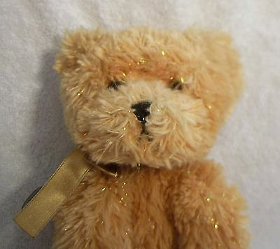 RUSS BERRIE Shining Stars Honey Bear Stuffed Animal Toy with Sealed Tag Code