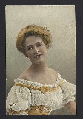Vintage English Theater postcard MISS PAULINE CHASE