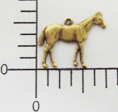 40083        2 Pc Brass Oxidized Small Horse Charm Jewelry Finding
