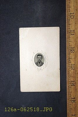 Antique Tintype Photo Mounted in Paper Frame Young Man ID'd as Greenleaf Coal