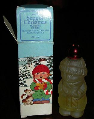Vintage Avon Song of Christmas Moonwind Cologne perfume with box 1980