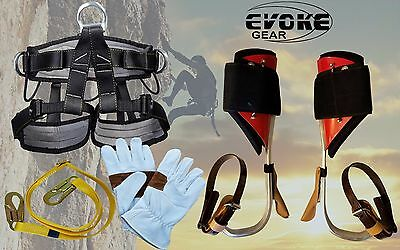 Tree Climbing Spike Set Aluminum Pole Spurs Climber Harness Climbing Glove Evoke