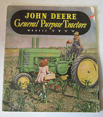 1940s John Deere Catalog Brochure Sales Model A B G H Tractors Original Rare Old
