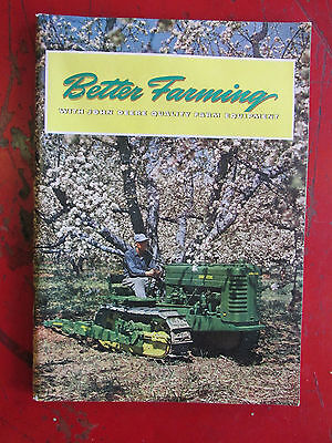 1950s JOHN DEERE Better Farming 84pgs Nice Farm Tractor Brochure Sign Rare