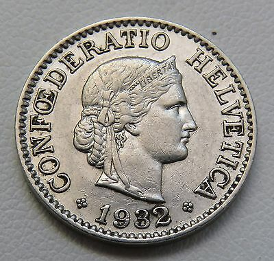 NICE XF 1932 Switzerland 10 Rappen Coin Lot 852