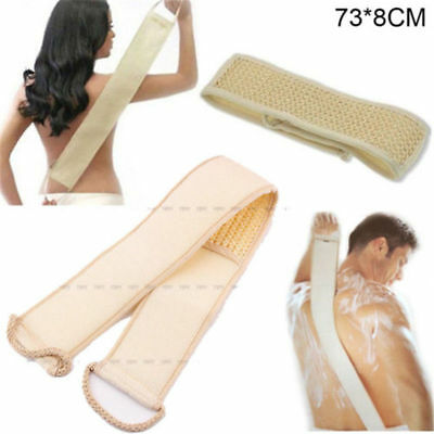 Natural Exfoliating Loofah Back Strap Bath Shower Massage Scrubber Sponge Brush