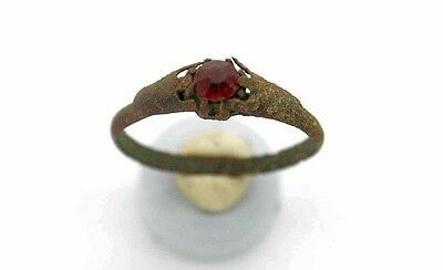 Medieval Viking Period Ring with gemstone