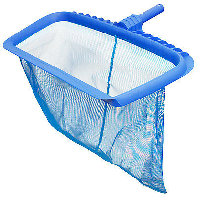Pro Heavy Duty Swimming Pool Leaf Rake with Deep Net Bag, Fits Standard Poles