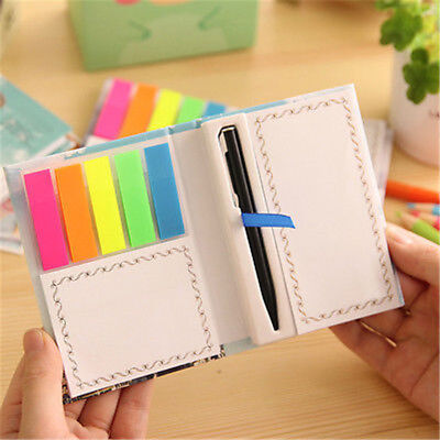 Portable Cute Mini Tiny Notebook Sticky Note Pen Memo Diary Pocket Planner