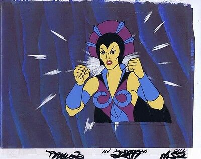 He-Man Masters of the Universe Original Animation Cel & Copy Bkgd #A10634