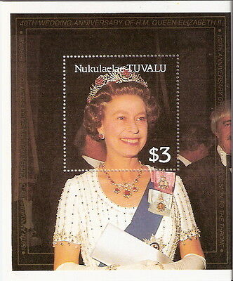 Tuvalu Nukulaelaae 1986 Queen Elizabeth 60th Birthday Souvenir Sheet MNH (SC# 67