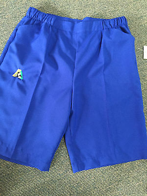 Holland Park BA Logo Bowls Australia LADIES Lawn Bowls Shorts Royal Blue