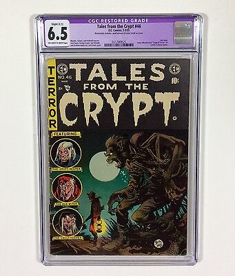 Tales From The Crypt #46 CGC 6.5 Slight Resto. (Last EC Horror Comic EVER!) 1955