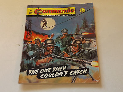 Commando War Comic Number 289,1967 Issue,good For Age,50 Years Old,very Rare.