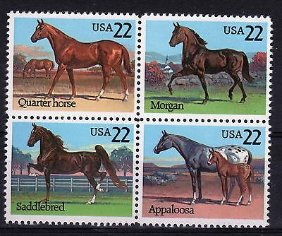 USA a nice set of stamps to celebrate Horses.