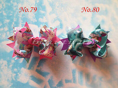 30 BLESSING Good Girl Baby Bug Hair Bow Clip FROZEN Character Snowflake Hairbow