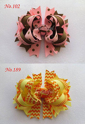 50 BLESSING Good Girl Custom Boutique 5.5 Inch B-Blooming Hair Bow Clip 190 No.