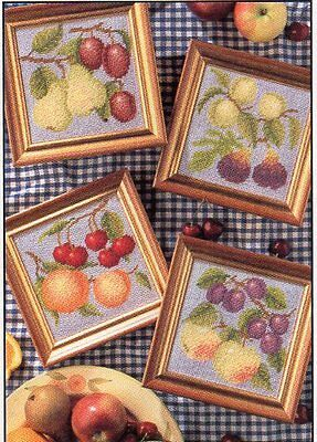 Tapestry/ Needlepoint charts. Fruit panels. Sue Page