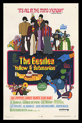 Yellow Submarine ☆ Rolled Studio Executive Advance Movie Poster ☆ The Beatles!!