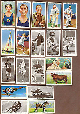 SPORTS, FAMOUS ATHLETES, OLYMPICS : Collection of British Tobacco Cards (1937)