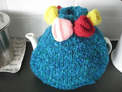 Hand knitted tea cosy medium size