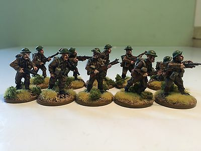 28mm WW2 British Rifle Section Painted