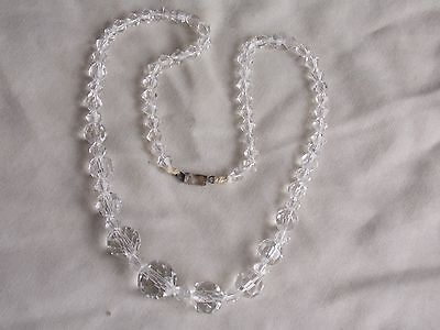 Pretty Vintage 1940S Graduated Crystal Beaded Necklet