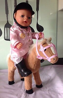 Baby Born Doll With Walking Horse & Riding outfit