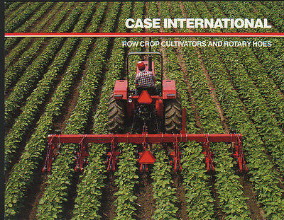 CASE International Tractor Row Crop Cultivator & Rotary Hoe Brochure Leaflet