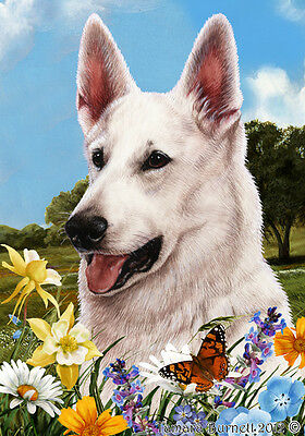 Large Pick 3 Flag Set - White German Shepherd