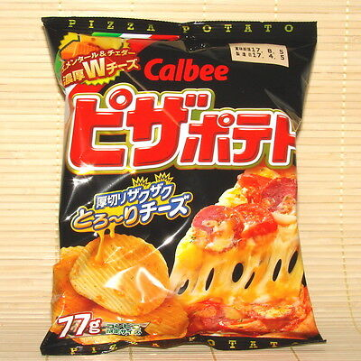 Japanese RARE Calbee PIZZA CHEESE Ripple Potato Chips Japan Thick Topping FRESH!