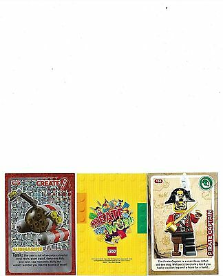Lego Sainsburys Create The World Cards X 96 All Different Mint