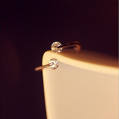 Fashion Jewelry Rose Gold Plated Crystal Ring Bridal Engagement Finger Jewelry