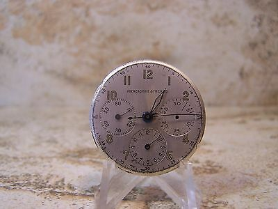 Vintage Ambercrombie & Fitch 17J 285 Chronograph Watch Movement, Dial & Hands
