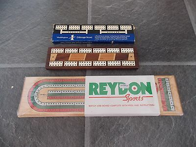 VINTAGE 3 x  CRIBBAGE SCORE BOARDs incl Waddingtons