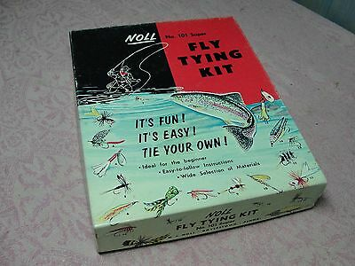 Vintage 1936 Noll Super Fly Fishing Tying Kit No. 101 in Original Box NOS