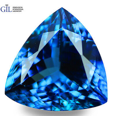 "3.84 CT OutStanding ! ""GIL CERTIFIED"" 100% NATURAL AAA D'BLOCK BLUE TANZANITE"