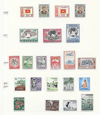 Ceylon stamps 1949 Collection of 22 stamps HIGH VALUE!