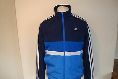 Boys Adidas Shell Tracksuit Track Top Jacket 13-14 Years Childrens